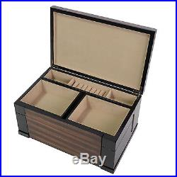 Large Wood Finish Necklace Jewelry Box Dimensions 6H 15W 9D