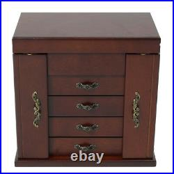 Large Wooden Jewellery Box Jewelry Organizers Storage Display Case Ring Y