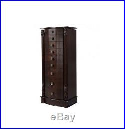 Large Wooden Jewelry Armoire Bracelets Necklaces Rings Earrings Storage Box Org