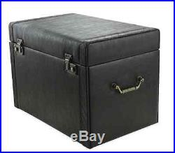 Leather Jewelry Box Trunk Storage Display Chest Case Necklace Ring Organizer New