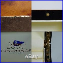 Louis Vuitton Yacht Cup 2000 Jewelry Box Watch Trunk Case Lacquered Wood A105