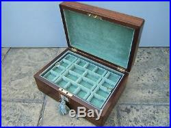 Lovely 19c Figured Rosewood Inlaid Antique Jewellery Box Fab Interior