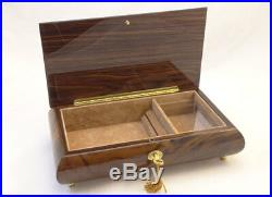 Made in Italy Sorrento Large Burlwalnut Wooden Jewelry Music box (Sankyo 18Note)