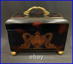 Maitland Smith Hand Painted Chinoiserie Wooden Box