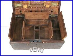 Makeup Jewelry Box Wooden Vintage Handmade Old Rare Collectible India