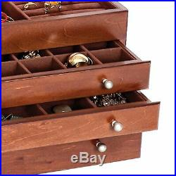 Mele & Co Brigitte Large Wooden Jewelry Box Organizer for Men and Women Antique