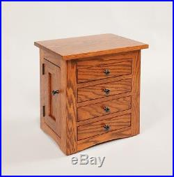 Mission Flush Jewelry Cabinet Dresser Top Solid Oak Wood Chest Amish Wooden Box