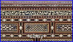 Moroccan Chest of Drawers, Egyptian Wooden Jewelry Box, Mother of Pearl Inlaid