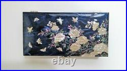 Mother of Pearl Jewelry Box Jewelry Storage Wooden Box For Gift Korean Box Blue