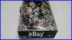 Mother of Pearl Jewelry Box Jewelry Storage Wooden Box For Gift Made in Korea