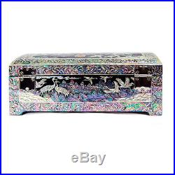 Mother of Pearl Lacquer Wood Jewellery Gift Trinket Keepsake Treasure Chest Box