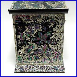 Mother of Pearl Wooden Drawer Lacquer Jewelry Ring Decorative Keepsake Box Chest