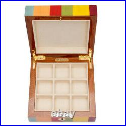 NEW Ercolano Lucilla Wooden Jewellery Box withTray Small