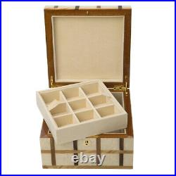 NEW Ercolano Sofia Wooden Jewellery & Watch Box withTray Small