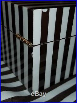 NEW Henri Bendel LARGE Sinature Striped Lacquer Jewelry Box 712 SOLD OUT