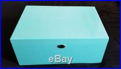 NEW Tiffany Blue Large High Gloss, Blue Lacquer Jewelry Box, Organizer with Lock