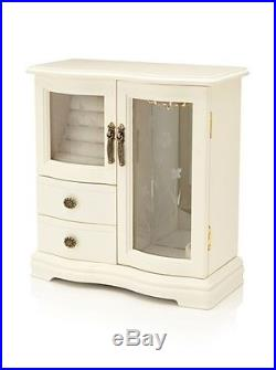 Nathan Direct Classic Dual Case Jewelry Box with 2 Drawers, Ringer Holders, and
