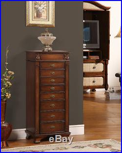 Nathan Direct J1007ARM-L-COF Maldives Coffee 8 Drawer Jewelry Armoire in Coffee