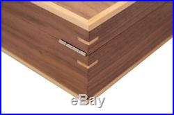 New Walnut 10 Wrist Watch Jewellery Wood Veneer Display Storage Wooden Case Box