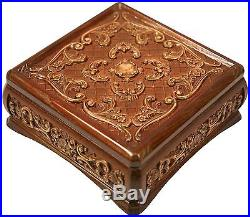 New Wooden Handmade Carved Box Jewelry Lock Chest Fine Ash-tree Wood Unique Gift