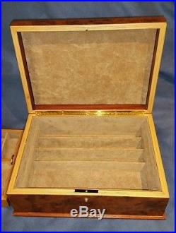 Nordstrom Italian Burl Wood Jewelry Box Wooden Made in Italy