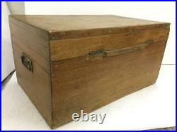 Old Vintage Big Size Handmade 17 Compartment Heavy Wooden Cash / Jewelry Box
