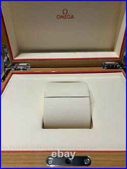 Omega Genuine Authentic Empty Watch Case Jewellery Wooden Box Perfect Condition