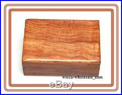 PLAIN Wooden Carved Tarot Box Wicca Pagan 4 X 6 inchs FREE SHIPPING Jewerly box