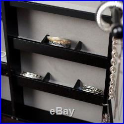 Photo Frame Mirror Jewelry Armoire Cheval Necklace Ring Storage Organizer Stand