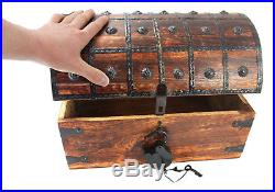 Pirate Treasure Chest X Large 16x11x11 WellPackBox Box Antique Style Lock