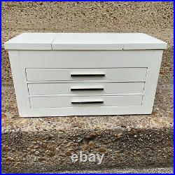 Pottery Barn Ultimate Wooden Jewelry Box Extra Large Antique White