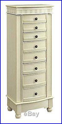 Powell Furniture CST7493 Murphy Cream Jewelry Armoire New