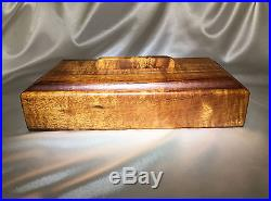 Premium Tiger Curly Koa Wood Rectangle Jewelry Box with Removable Lid