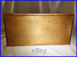 Quilted Maple & Curly Koa Trim 3 Drawer Jewelry Chest Box by KEITH BEARDSLEY