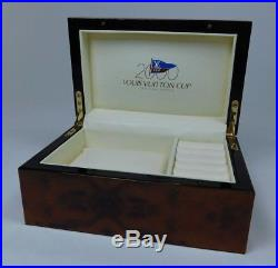 RARE Louis Vuitton Cup 2000 Burl Wood Lacquered Jewelry Box Watch Case 0075