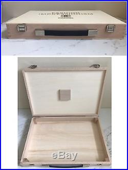 RARE! Pre-Owned Authentic CHANEL Wood Jewelry Necklace Box Hand Bag