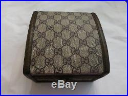 RARE! Vintage GUCCI Jewelry Box From the 70's Signature GG Canvas Print