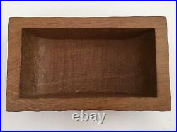 Rare Mouseman Handcarved Wooden Jewellery Trinket Box