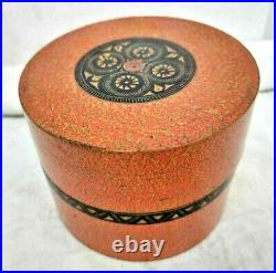 Rare Old Vintage Antique Wooden Hand Crafted Lacquer Painted Jewelry Box