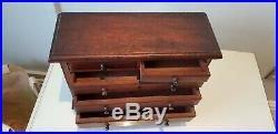 Rare Vintage Apprentice Wooden Chest Of Draws jewellery box
