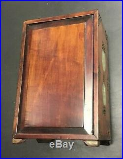 Rare Vintage Asian Chinese Wooden Inserts Jewelry Box Chest Antique