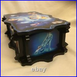 Rare Vintage Story of Cinderella Watch Jewelry Box Wooden Acrylic