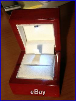Rosewood Jewelry Ring Box with LED Light Lighted Best Quality Best Price NEW