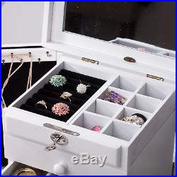 Rowling Extra Large Wooden Jewelry Box/Jewel Case Cabinet Armoire Ring Necklacel