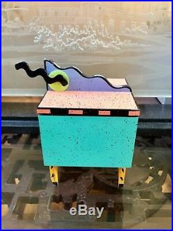 SIGNED LN! EXCELNT CON Vintage 1990 HOLLIS FINGOLD Wooden Jewelry Box Collectors