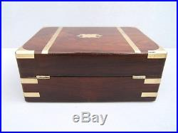 SUPERB EARLY 19c ROSEWOOD ANTIQUE DOCUMENT/JEWELLERY BOX FAB INTERIOR