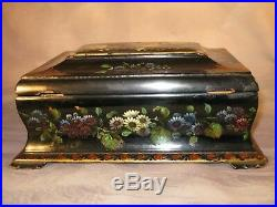 Sewing Work Box Antique Victorian Vintage Ladies Hand Inlay MOP C1845 jewellery