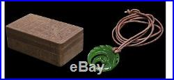 Shadow of The Tomb Raider Lara Croft Jade Pendant Necklace Prop + Wooden Box