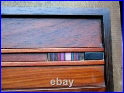 Stunning Vintage Robert McKeown wooden and resin jewelry box Cloisonne in Wood