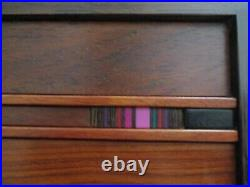 Stunning Vintage Robert McKeown wooden and resin jewelry box Cloisonné in Wood